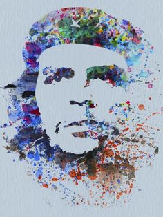 Che Guevara Watercolor by NAXART Studio - Canvas Print at NAXART.com