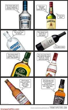 If Alcohol bottles could talk