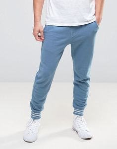 Hollister Slim Fit Cuffed Joggers in Navy