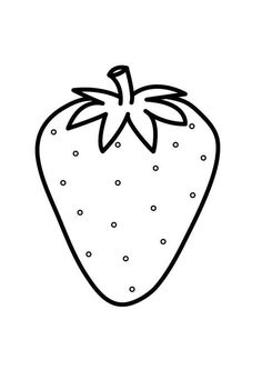 Coloring page strawberry - coloring picture strawberry. Free coloring sheets to print and download. Images for schools and education - teaching materials. Img 23174.