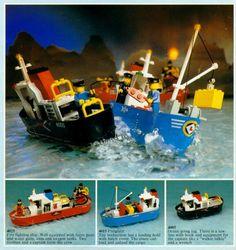 1980s Lego catalogue Lego Boat, Classic Lego, Lego Ship, Vintage Lego, Lego Architecture, Lego Stuff, Cool Lego, Childhood Toys, Retro Toys