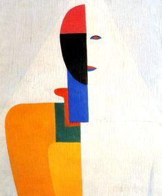 Kasimir Malevich [UkrainianCubistPainter, 1878-1935] Female Half Figure1928-1932Oil on canvasPrivate collection