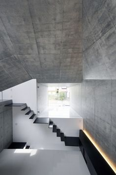 Concrete Architecture & Design by Manuela Roth Architecture Design, Concrete Architecture, Contemporary Architecture, Minimalist Architecture, Building Architecture, Interior Stairs, Interior And Exterior, Interior Design, Beton Design