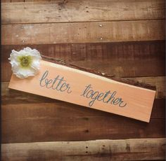 Better Together Rustic Wedding Or Engagement Photo Prop Coral and Teal on Etsy, $19.00