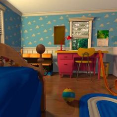 Toy story bedroom decor, ok who's good at painting clouds??