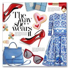 """""""The Way She Wears It"""" by dressedbyrose ❤ liked on Polyvore featuring Dolce&Gabbana, Inner Circle Jewelry, Vera Bradley, Estée Lauder, women's clothing, women's fashion, women, female, woman and misses"""