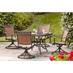 Hampton Bay, Niles Park 5-Piece Sling Patio Dining Set, S5-ADH04301 at The Home Depot - Mobile