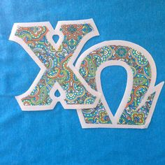 #ChiOmega #sorority #fraternity #sororityclothing #fraternityclothing #customgreek #SomethingGreek  Create your own in our letter design center!