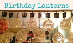 Reggio Emilia: Birthdays - Fairy Dust Teaching. I'm completely in love with this idea, and possibly creating it next week. We could hang the lanterns over the House Area?