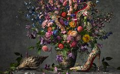 Christian Louboutin's SS14 Collection Photographed As Impressionist Art by Peter Lippmann