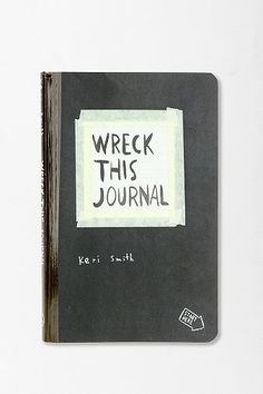 """Wreck This Journal by Keri Smith -- I'm just going to quote Amazon on this one: """"For anyone who's ever wished to, but had trouble starting, keeping, or finishing a journal or sketchbook... features a subversive collection of prompts, asking readers to muster up their best mistake- and mess-making abilities to fill the pages of the book (and destroy them)"""""""