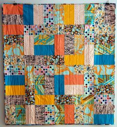 Piano Keys Quilt by Spool. Made from Jay McCarroll's Habitat fabric Patchwork Fabric, Fabric Scraps, Colorful Quilts, Piano Keys, Quilting Designs, Quilt Design, Patch Quilt, Japanese Fabric, Scrappy Quilts