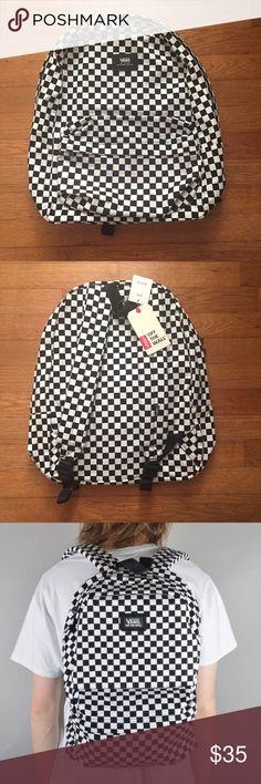 Selling this VANS 'Old Skool II' Checkered Backpack on Poshmark! My username is: styledbyniche. #shopmycloset #poshmark