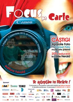 Campania ''Te asteptam in librarie'' 1 august - 1 noiembrie Canon, Promotion, 1 August, Books, Image, Collections, Libros, Cannon, Book