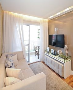 Lindos Painéis Para Sala De TV. Small Tv RoomsLiving ...