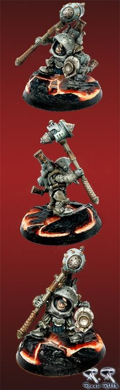 Searforge (Rhulic) Durgen Madhammer Warcaster for warmachine