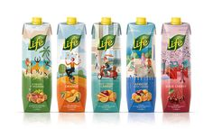 Life juices repackaging on Behance