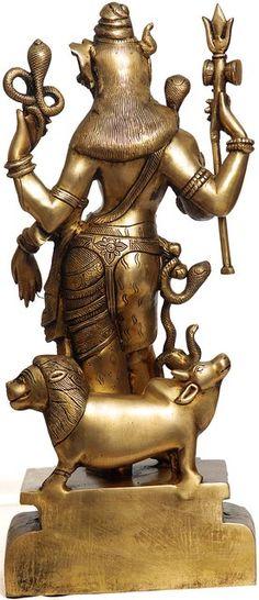 Ardhanarishvara Tiger Skin, Heart Knot, Brass Statues, God Pictures, Krishna Images, Indian Gods, Hanuman, Deities, Two By Two