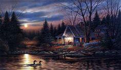 Terry Redlin Quiet Of The Evening