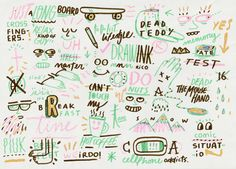 Bosque Studio type sketches