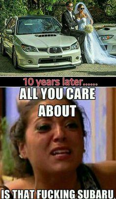 Lol. #subaruambassador Car Jokes, Funny Car Memes, Car Humor, Really Funny Memes, Subaru Forester Sti, Subaru Impreza, Wrx, Subaru Cars, Jdm Cars