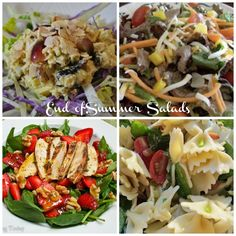 End of Summer Salads - a great assortment of salad recipes!