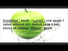 How to Green apple diet help to lose 4 kg on five days !!! ~ PinkyWomen