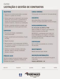 Informação presta: leia os arquivos do blog: Curso Cepam: Licitação e Gestão de Contratos