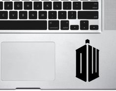 Doctor Who Tardis Macbook Decal, Doctor Who Macbook Sticker, Dr Who Macbook Pro Air Decals, Mac Decals, Laptop Decals, Apple, Die Cut Decal
