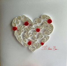 Card heart  greeting card  wedding card  panel by SpaceOfGifts