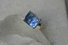 Tanzanite Slice Ring in Sterling Silver