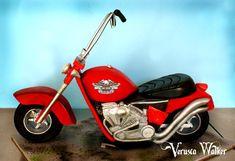 3D Motorbike Cake by ~Verusca on deviantART Cake Decorating With Fondant, Cake Decorating Classes, Cupcakes, Cupcake Cakes, Vespa Cake, Dirt Bike Cakes, Harley Davidson Cake, Motorcycle Cake, Ice Cream Cone Cake
