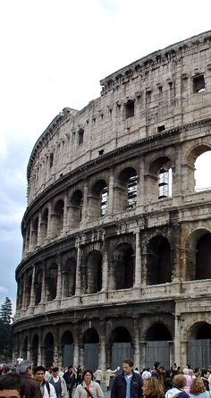 The Colosseum of Rome - Thinking of Rome the thing that comes into my mind is the Colosseum and when you arrive is is a very inspiring sight.  Unlike other famous monuments it is exaclty the way you picture it in your mind. - #photo #camera #travel photography #travel #photographer