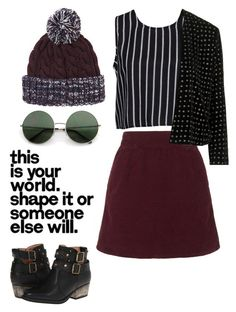 """""""chill and cozy vibe ♡♡ ;)"""" by loverofeverything8infinite ❤ liked on Polyvore featuring Topshop, Glamorous and Betsey Johnson"""