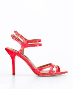 These are NEON strappy sandals.  The pic doesn't do them justice.  They are awesome in person.