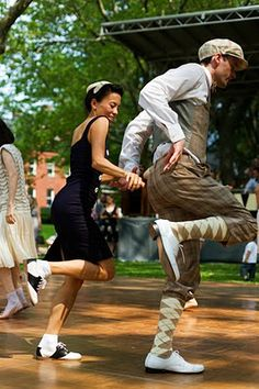 #sartorialist #jazz #dance #joy lawn party, 20s party, jazz age, couple costumes, jazz dance, swing dancing, west coast swing, dancing shoes, parti