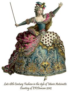 Late 18th Century Opera Fashion Costume PNG by EKDuncan in various color combinations - http://www.ekduncan.com/2012/02/dancing-marie-3-queen-of-castle.html
