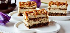 What's cooking Timea .: Cake with nuts and caramel delight Serbian Recipes, Hungarian Recipes, Cupcake Recipes, Dessert Recipes, Caramel Delights, Salty Snacks, Sweet Cakes, Food Cakes, Sweet And Salty