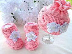 P A T T E R N Baby Hat Knitting Baby Set Baby Shoes by Solnishko43
