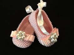 Baby Girl Dress Shoes hand embellished with by Elfinacreation