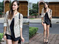 Zara Jacket, Zara Shorts, Zara Heels, Michael Kors Watch, Look Book Store Bracelet, Accesorize Bag