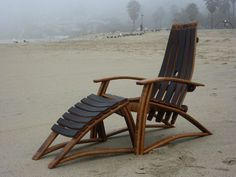 Wine Barrel Stave Chair by TCBarrelWorks on Etsy #WineBarrel