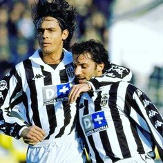 Fillippo inzaghi and alessandro del Piero whilst at juventus In the late nineties #football #Italy #italianfootball #seriea #retro #juve #juventus #inzaghi #delpiero #italia #calcio #calcioitalia #footballitalia #90s #90sfootball #retrofootball #vintage #vintagefootball