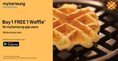 "Why settle for one waffle when you can enjoy Buy 1 FREE 1 Waffle Promo at Grid & Go now! Offer ends 15th June 2017. Download now :http://spr.ly/61828j0gE  How to redeem: 1. Visit the outlets specified in the app. 2. Tap on ""Redeem Now"" upon payment. 3. Present redemption code to staff. #fashion #style #stylish #love #me #cute #photooftheday #nails #hair #beauty #beautiful #design #model #dress #shoes #heels #styles #outfit #purse #jewelry #shopping #glam #cheerfriends #bestfriends #cheer…"