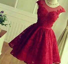 Imagem de dress, red, and outfit