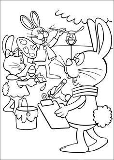 Peter Cottontail Kleurplaten voor kinderen. Kleurplaat en afdrukken tekenen nº 1
