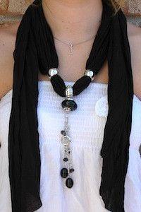 Love pendant scarves...  www.theaccessorybarn.com
