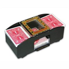 Automatic Card Shuffler - 4 Deck Capacity by Jobar by Jobar. $7.22. This amazing Automatic Card Shuffler by Jobar takes the stress and aggravation out of shuffling multiple decks of cards. Easily shuffle 1 to 4 full decks into 1 large deck with a simple touch of the fingertip control. Ideal for Poker, Rummy, Canasta, Pinochle, Black Jack and other card games, this handy shuffler includes a deck of premium quality cards.