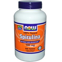 Energy: Now Foods, 100% Natural Spirulina, 500 mg, 500 Tablets - iHerb.com