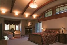 A little different - have always wanted a fireplace in the master bedroom.